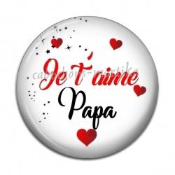 Cabochon Résine - je t'aime papa
