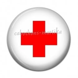 Cabochon Résine - croix infirmière