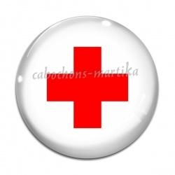 Cabochon Verre - croix infirmière
