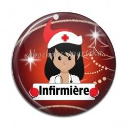 Cabochon Résine - infirmière
