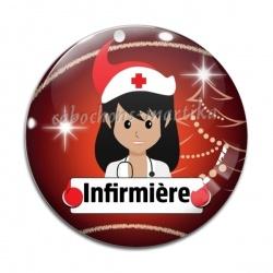 Cabochon Verre - infirmière