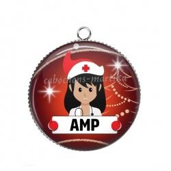 Pendentif Cabochon Argent - AMP