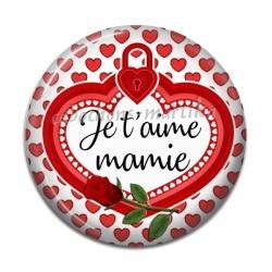 Cabochon Résine - je t'aime mamie