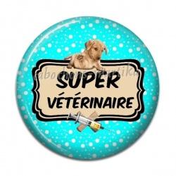Cabochon Résine - super vétérinaire