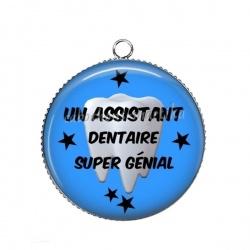 Pendentif Cabochon Argent - Un assistant dentaire super génial