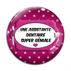 Cabochon Verre - Une assistante dentaire super géniale
