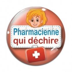 Cabochon Verre - pharmacienne qui déchire
