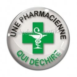 Cabochon Verre - une pharmacienne qui déchire