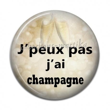 Cabochon Résine - j'peux pas j'ai champagne