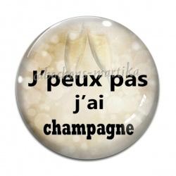 Cabochon Verre - j'peux pas j'ai champagne