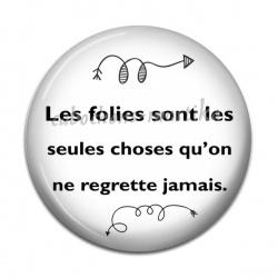 Cabochon Résine - proverbe