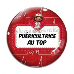 Cabochon Verre - Puéricultrice au top