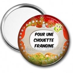 Miroir de poche - pour une chouette franchine
