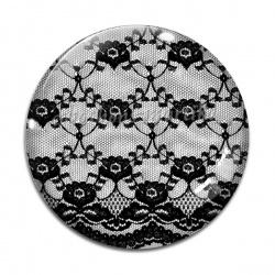 Cabochon Verre - dentelle