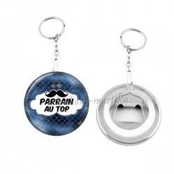 Porte clés décapsuleur - parrain au top