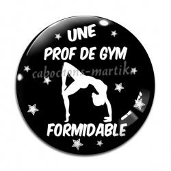 Cabochon Verre - une prof de gym formidable
