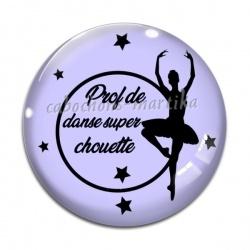 Cabochon Verre - prof de danse super chouette