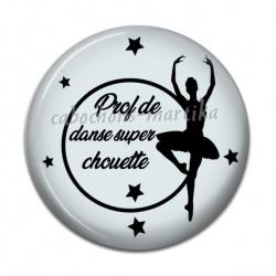 Cabochon Résine - prof de danse super chouette