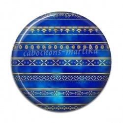 Cabochon Résine - fond bleue