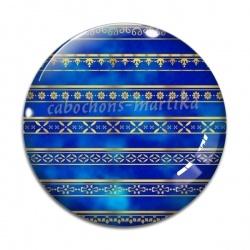 Cabochon Verre - fond bleue
