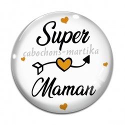 Cabochon Verre - super maman