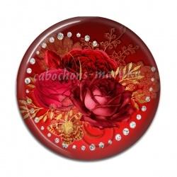 Cabochon Résine - rose