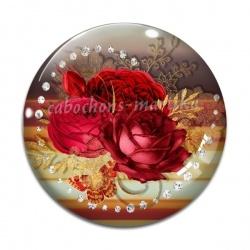 Cabochon Verre - rose
