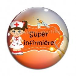 Cabochon Verre - super infirmière