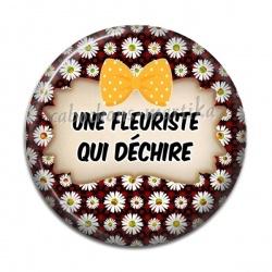 Cabochon Résine - une fleuriste qui dechire