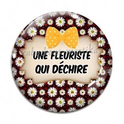 Cabochon Verre - une fleuriste qui dechire