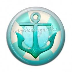Cabochon Résine - ancre de mer