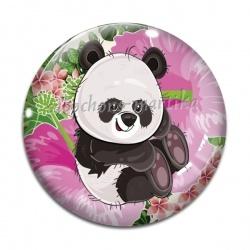 Cabochon Verre - panda