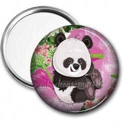Miroir de poche - panda