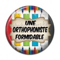 Cabochon Résine - une orthophoniste formidable