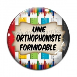 Cabochon Verre - une orthophoniste formidable