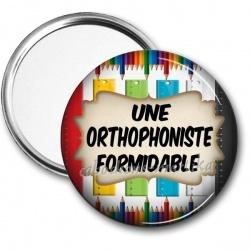 Miroir de poche - une orthophoniste formidable