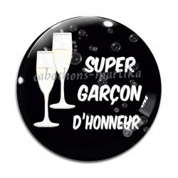 Cabochon Verre - super garçon d'honneur