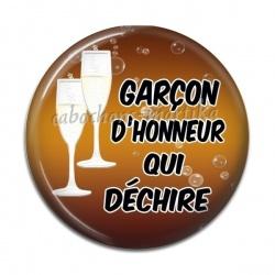 Cabochon Résine - garçon d'honneur qui déchire