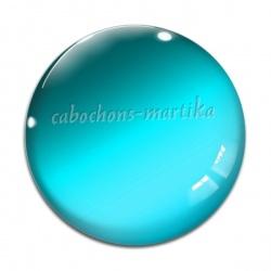 Cabochon Verre - fond bleu