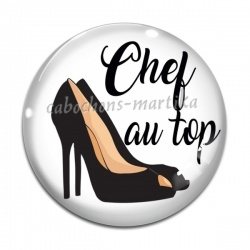 Cabochon Verre - chef au top