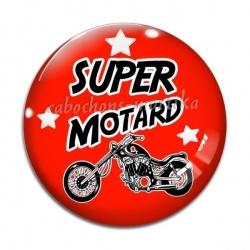 Cabochon Verre - super motard