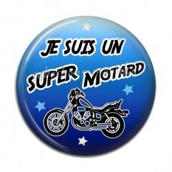 Cabochon Résine - je suis une super motard
