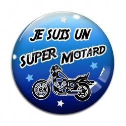Cabochon Verre - je suis une super motard