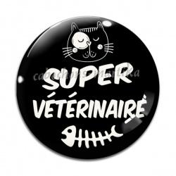 Cabochon Verre - super vétérinaire