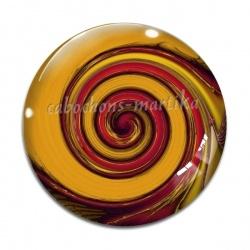 Cabochon Verre - spirale