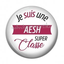 Cabochon Résine - je suis une AESH super classe