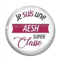 Cabochon Verre - je suis une AESH super classe