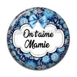 Cabochon Résine - On t'aime Mamie