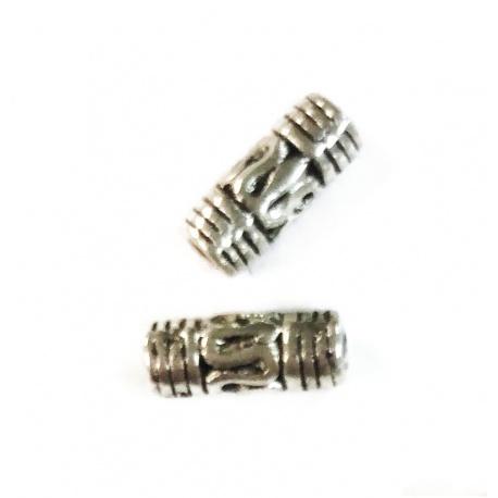 10 Perles 8 mm métal argenté
