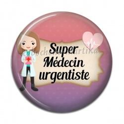 Cabochon Résine - super médecin urgentiste